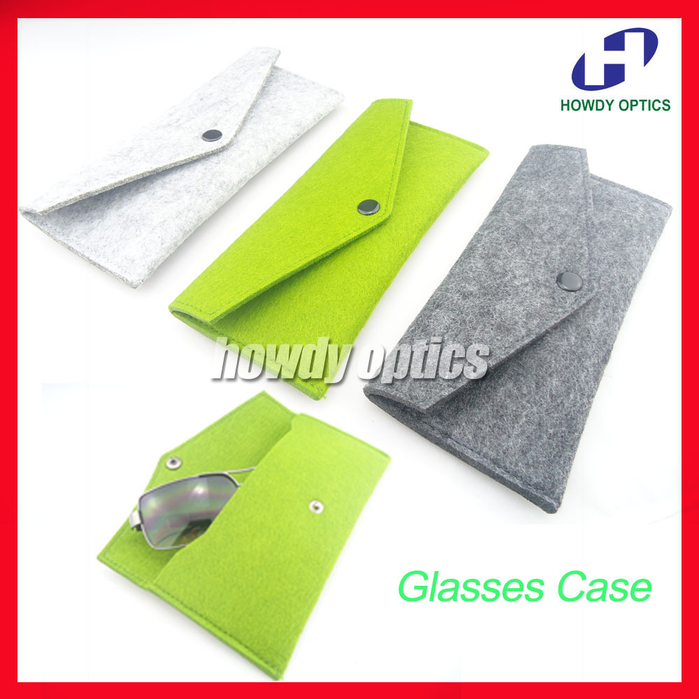 HZ02 Fashion Felt Concealed Button Sunglass Eyewear Eyeglasses Sunglasses Case Box Army Green,Dark Grey,Light Grey Free Shipping