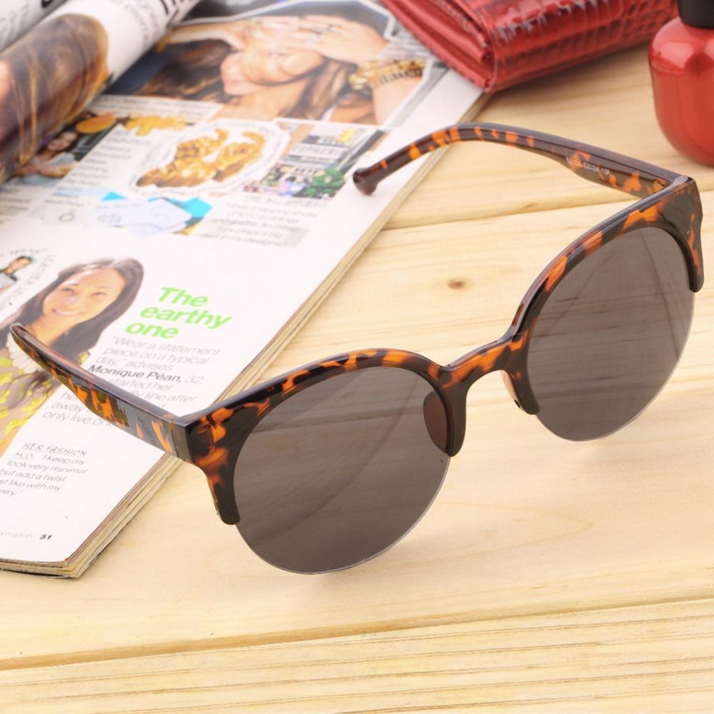 1 шт. мода старинные очки ретро Cat Eye half-диска круглые очки для мужчин женщины очки солнцезащитные очки очки