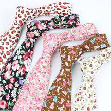 Floral RoseTies for Men 8cm Wide Colorful Necktie 2016 New Fashion Designer Party Pink Gravata Vintage Neck Tie Free Shipping