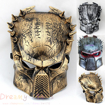 HOT Predator face Mask Cospaly paintball horror Halloween Costume Ball Aliens Masks 3 Colors Choose(China (Mainland))