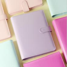 A5 A6 Macaron leather spiral notebook Original officepersonal diary/Week planner/Agenda organizer/stationery gift/papelaria - JinHua Stationery Co., Ltd store