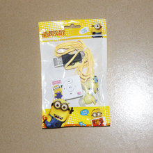 1 pcs/lot New Style High Quality Mini Despicable Me Cartoon Anime Shaped Card Reader MP3 Music Players With Earphone&Mini USB