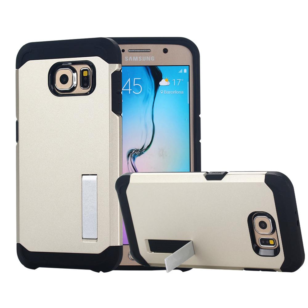 Гаджет  Luxury Tough Slim Armor Case For Samsung Galaxy S6 G9200 G920 G925F Mobile Phone Bag Cases Back Cover With Stand Function  None Телефоны и Телекоммуникации