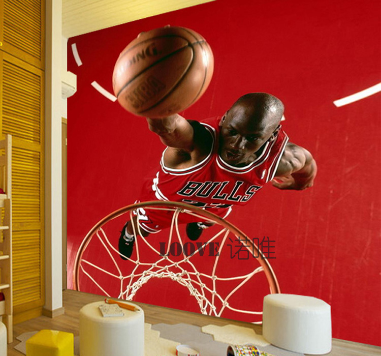 Online buy wholesale shopping norway from china shopping for Basketball mural wallpaper