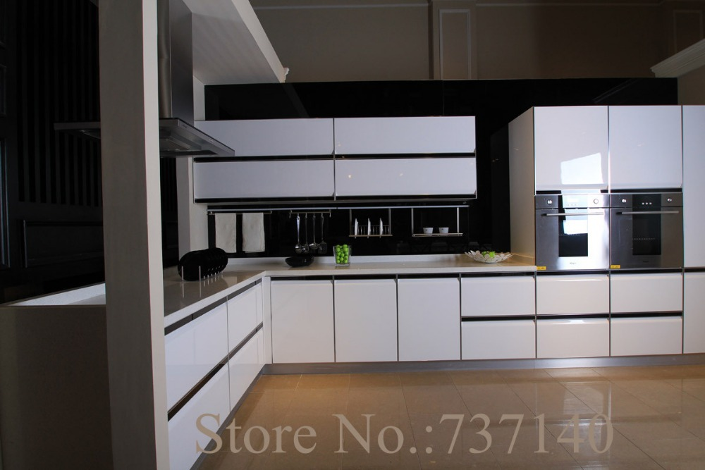 com  Buy high gloss white lacquer kitchen cabinet white wood cabinet