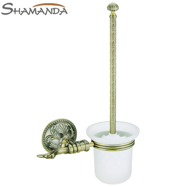Free Shipping European Luxurious Bathroom Accessories Antique Bronze Toilet Brush Holder