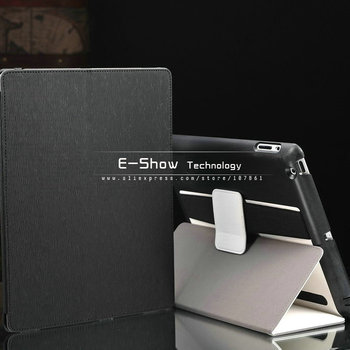 Luxury stand leather case for ipad3 magnetic smart case for ipad 2 Armband Pouch flip case smart  Fashion  novelty