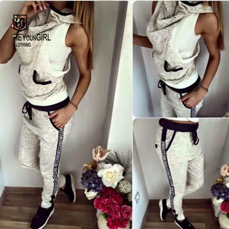 HEYounGIRL 2016 summer brand women sport tracksuits turtleneck pocket outdoor hoodies sleeveless sweartshirt hoodie tracksuitОдежда и ак�е��уары<br><br><br>Aliexpress