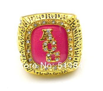 Free Shipping !18K Gold Plated  size 11 Replica 1992 Florida State Seminoles championship ring
