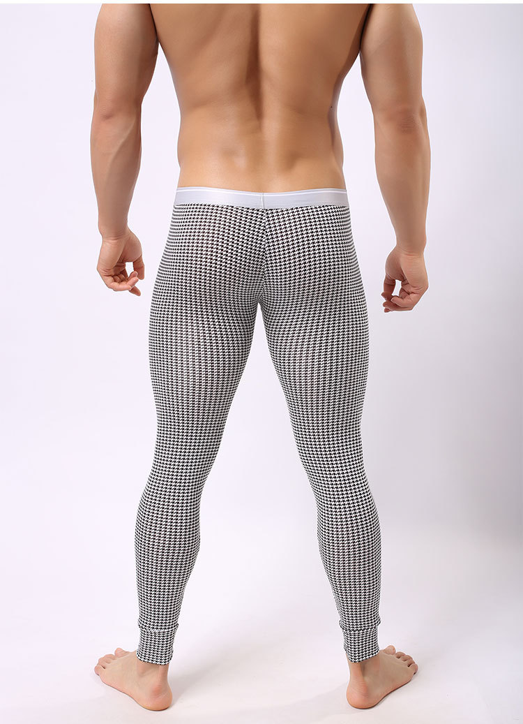 New warm brand name cotton thermal underwear thermo underwear man long john underpants S M L(China (Mainland))