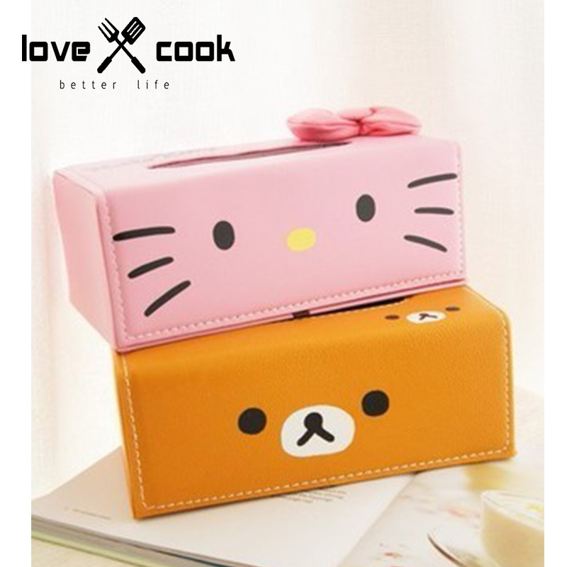 Hello Kitty Household Leather Tissue Box Clip High Quality