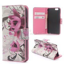 Lotus Flower Leather Wallet Case for iPhone 6 (4.7 inch) FREE SHIPPING