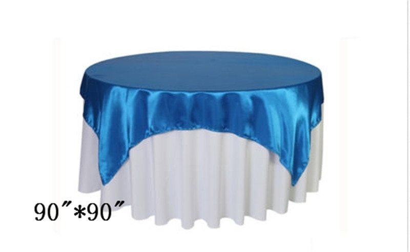 "10 piece linen tables royal blue table overlay cheep table overlay 90""* 90""(China (Mainland))"