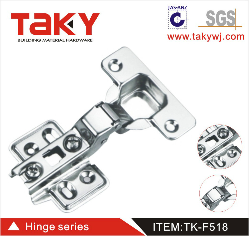 TK-F518slide on self closing concealed two way hinge for furniture cabinet(China (Mainland))
