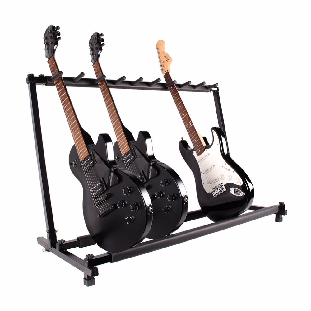 New Guitar Parts Accessories Multiple Guitar Folding Rack Storage Organizer Electric Acoustic Stand Holder New Brand(China (Mainland))