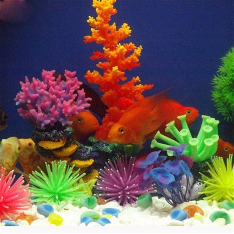 Silicone Fish Tank Decoration Aquarium Artificial Coral Flowers Plant Underwater Ornament 2017(China (Mainland))
