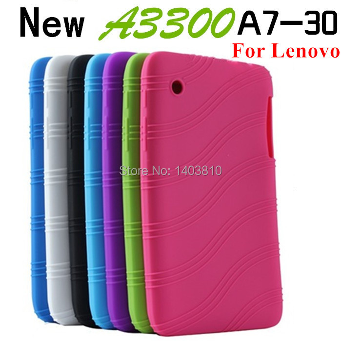 Free shipping New Colorful For Lenovo A3300 A7-30 7 inch Sweety Silica Gel Soft Back Cover Case Computer Tablet Silicon Bag(China (Mainland))