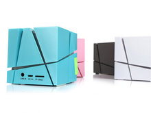 Gaoye Qone Mini Cubic Bluetooth Speakers Built-in 500mAh Battery Stereo Sound Box Mp3 Player Subwoofer Speakers
