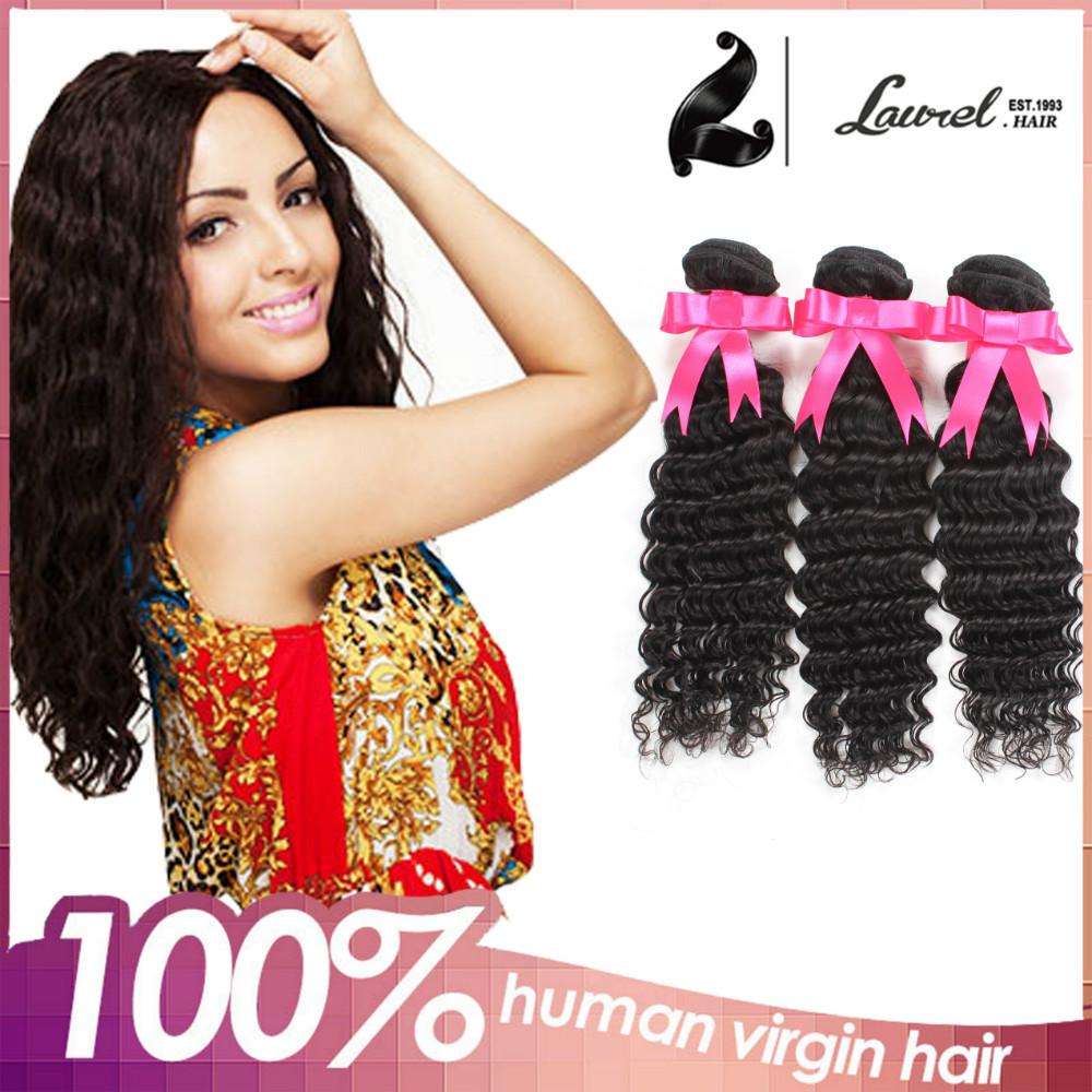 7A Peruvian Virgin Hair Deep Wave Remy Hair Deep Wave 100% Human Hair Weaving Peruvian Cheap Virgin Hair 3pcs lot Free Shipping<br><br>Aliexpress
