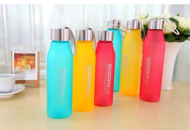 Portable Water Bottle 600ml 800ml Plastic Cheap Sport Creative Frosted Shatterproof Lemon Soda Space Cup Leak-proof Water Kettle(China (Mainland))