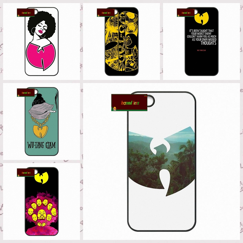 Wu Tang Clan Music Band Logo Phone Cases Cover iPhone 4 4S 5 5S 5C SE 6 6S 7 Plus 4.7 5.5 UJ0450