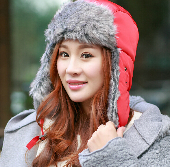 [해외]Winter Russian Bomber Ushanka Hats Women Outdoor T..