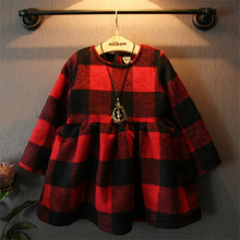 Kids Dresses For Girls Dress For Girls Girl Chao Ya Children Winter Lamb College Wind Sugel Lattice Child Doll Style Wholesale(China (Mainland))