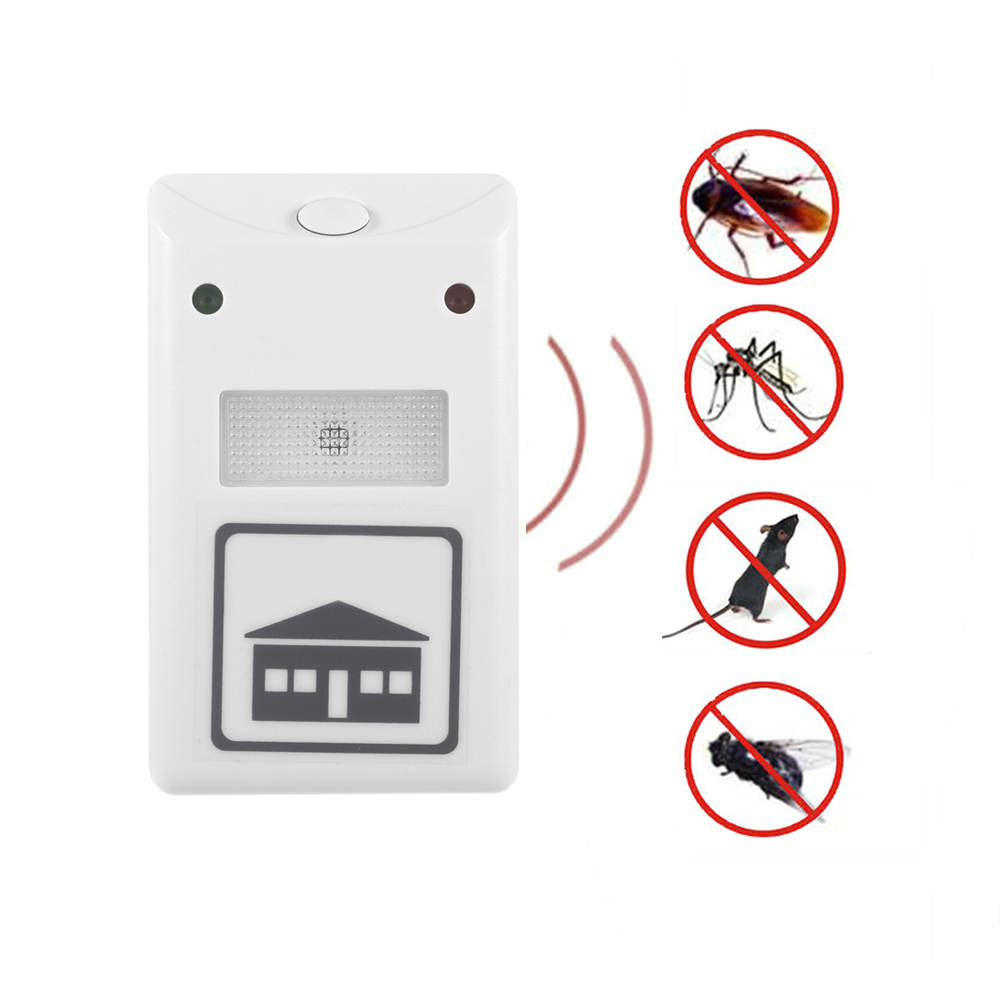 Ultrasonic Mouse insect Roach Ant Spider Flea Repellent Mosquito Cockroach Repeller Rodent Pest Bug Electronic 2016 New EU Plug(China (Mainland))