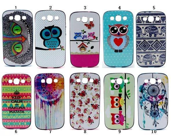 Fashion Neo Hybrid Slim Armor Case Back Cover For Samsung Galaxy S3 SIII gt i9300 9300 Flower Mobile Phone Cases Gel Shell(China (Mainland))