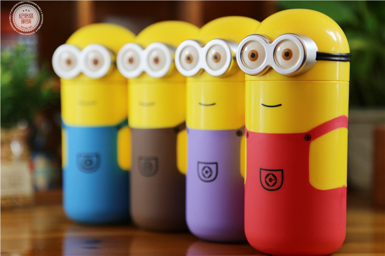New Cute Minions bottle my bottle 2015 Vacuum Travel Office Students Funny Cup Thermos Mug flask 238ml Top quality Gifts(China (Mainland))