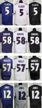 2016 New Roster Mens High Quality 100% Stitched Color Purple Black White Elite Jerseys(China (Mainland))