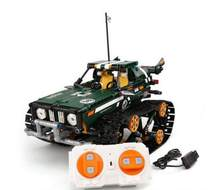 Technic RC TRACKED RACER car Electric Motor Power Function Compatible With Legoings technic Car Building Block bricks Model(China)
