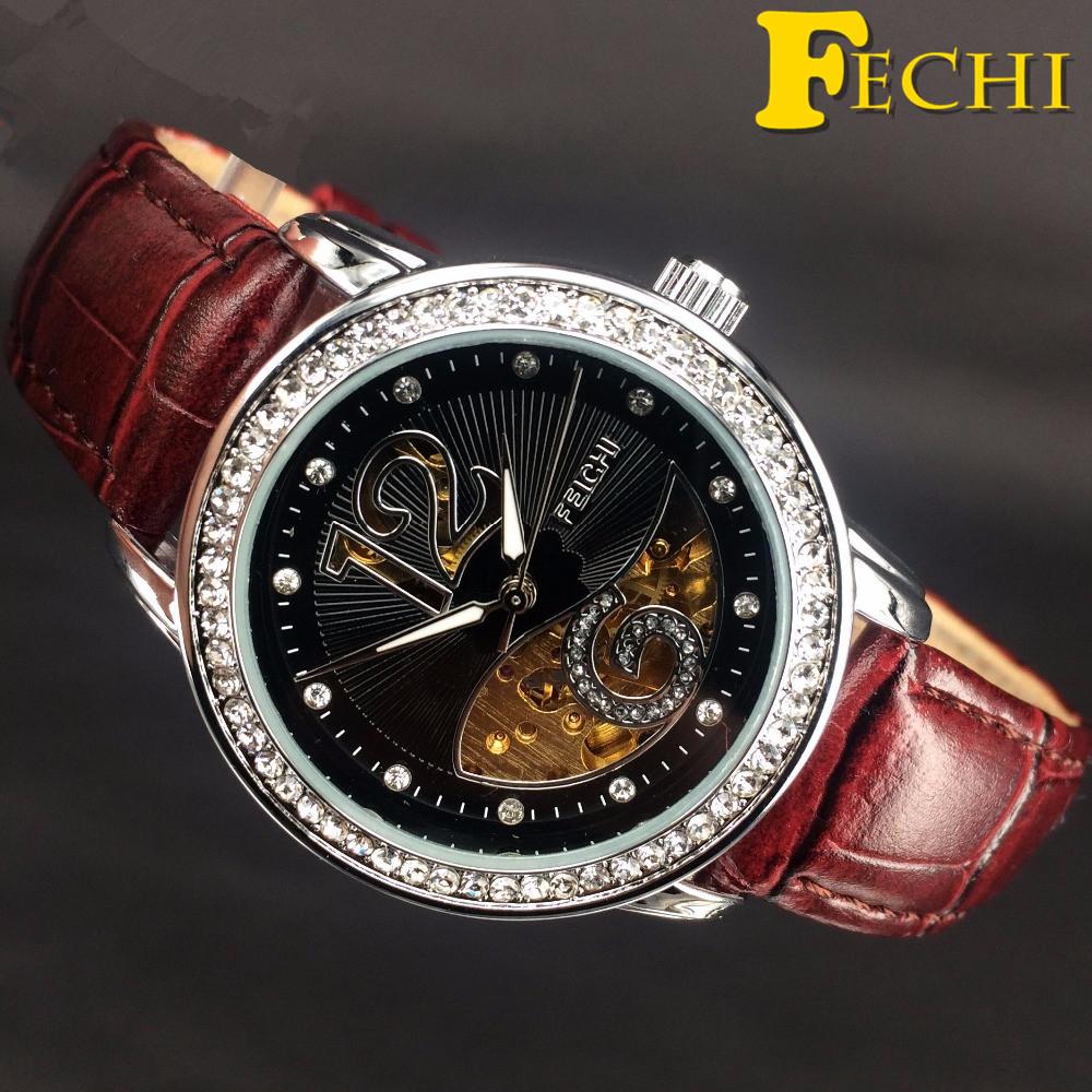 Fechi montre femme marque de luxe 2016 fashion women watch automatic self win - Vaisselle de luxe marque ...