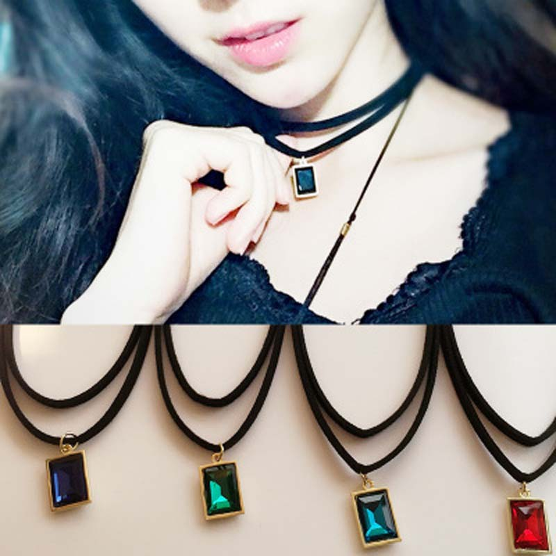 2016 Rope Necklace Vintage Choker Statement Necklace for Women Gift Silver Color Jewelry Women Accessories(China (Mainland))