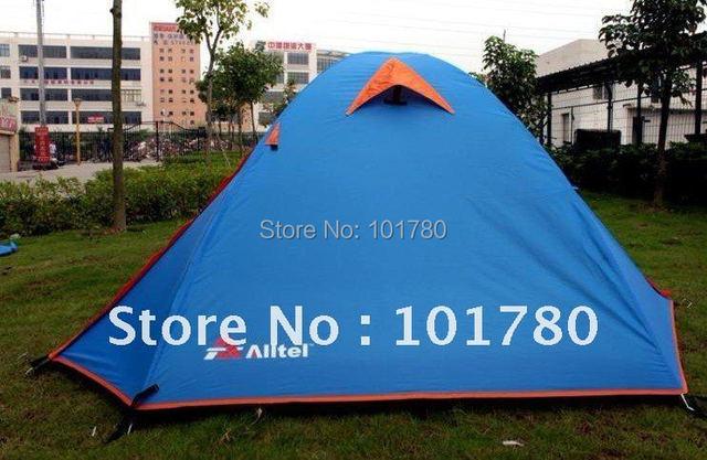 2-3person tents, Camping tent,2 door 2 window ,orange,sky blue color