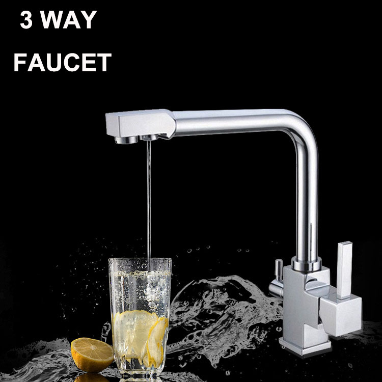 High Quality Filtered Water Hot Cold Water Sink Mixer 3 Way Water Filte
