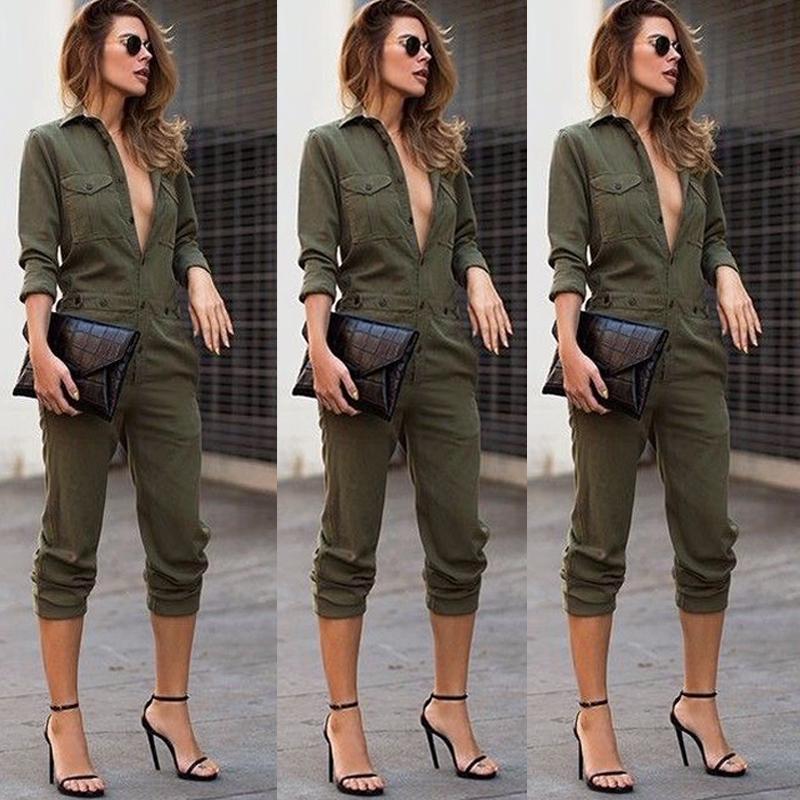 a4ba6e43f74 2019 Sexy New Fashion Women Slim Hot Sale Bodycon Solid Jumpsuit ...