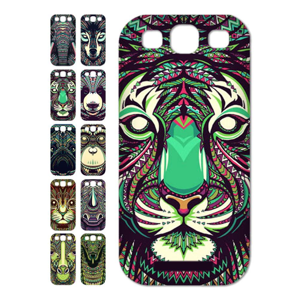 High Quality Print Lion Cute Color Animal cell phone Case sfor samsung galaxy S3 i9300 case Support wholesales(China (Mainland))