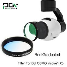 PGY Blue Gradual color graduated filter Lens for DJI OSMO inspire1 X3 Gimbal Camera UAV drone accessories