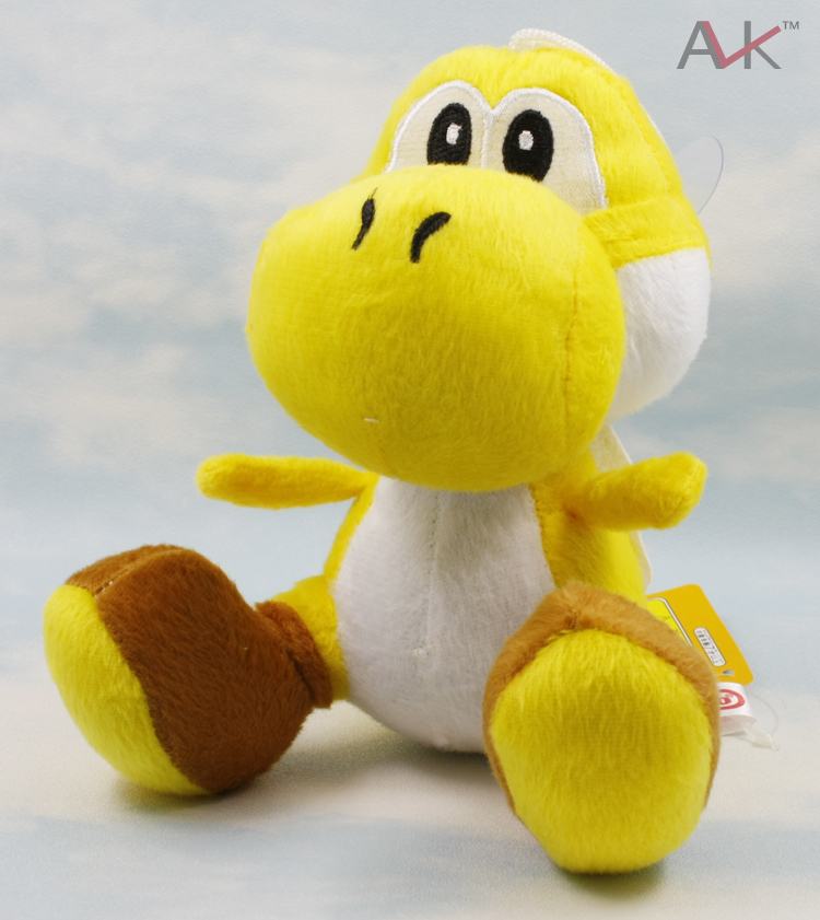 20PCS/LOT Wholesale - Super Mario Bros Brothers 7 inch Yoshi Plush Toy Dolls Figure free shipping<br><br>Aliexpress