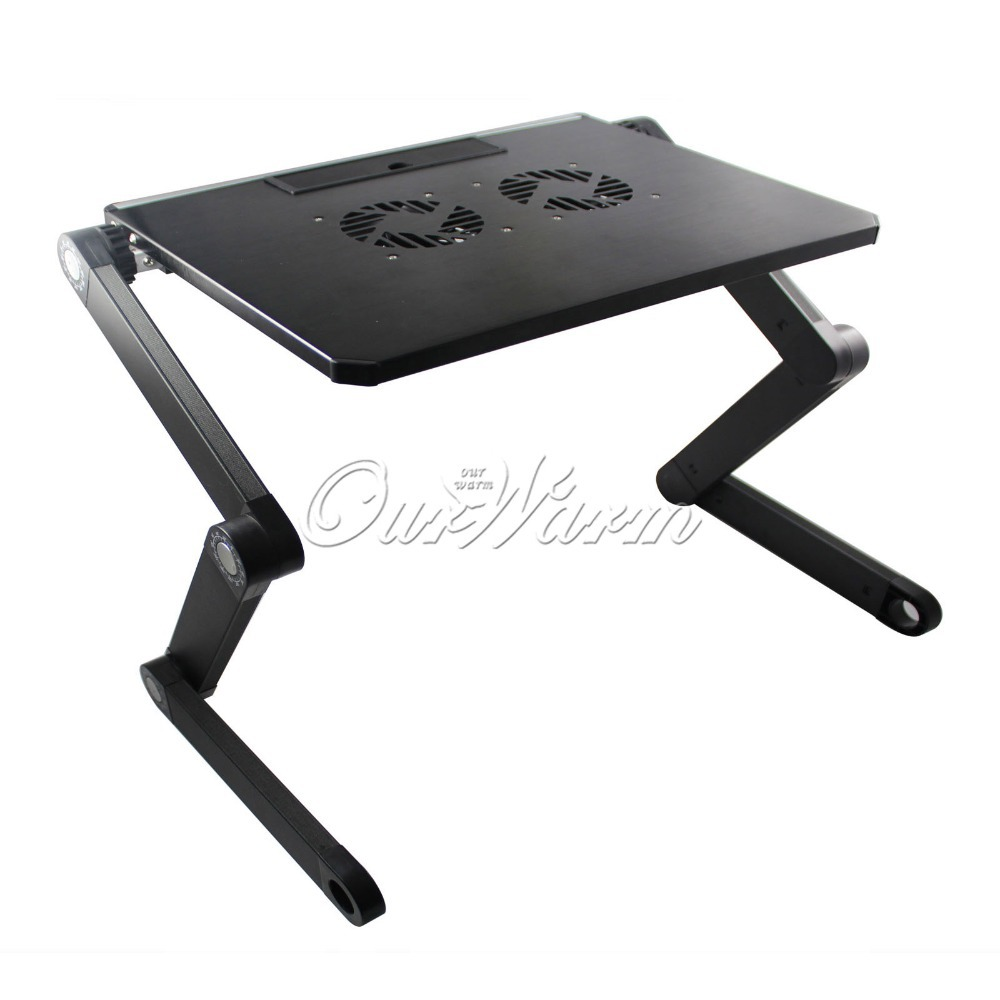 2015 New Design T3 Aluminum Laptop PC Notebook Adjustable Folding Desk Stand Table Tray Heat Dissipation Fan for Bed Sofa Office(China (Mainland))