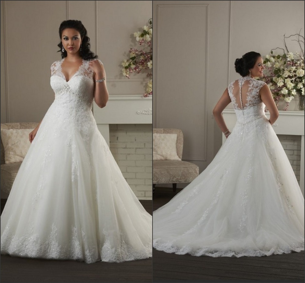 Plus Size Wedding Dresses Houston : Cap sleeve wedding dress plus size ? clothing for large ladies