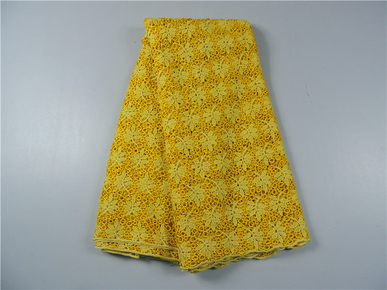 Free Shipping! high quality african water soluble african cord lace guipure lace fabric for women nice dress 5Yards/Lot
