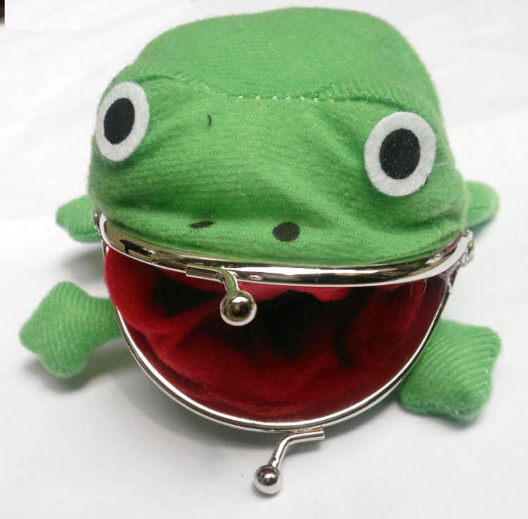 Naruto Frog Shape Uzumaki Wallet Coin Purse Green Cosplay Plush Cute