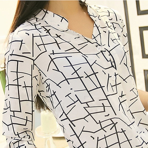Womens Chiffon Blouse 3/4 Sleeve Shirt OL Lady Shirt Tops S M L XL Free ShippingОдежда и ак�е��уары<br><br><br>Aliexpress
