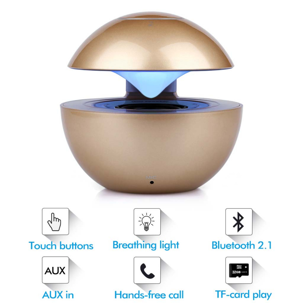 Wireless Bluetooth Dancing Speaker with LED Light Speakerphone Stereo Handsfree Support TF AUX Music player for Phone PC(China (Mainland))
