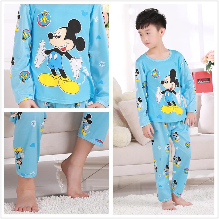 2016 Children Pajama sets Cartoon kids Pyjamas For Boys Girls Long Sleeve Pijamas For enfant child Cotton Clothes 3-12 Years