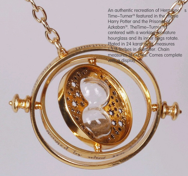 1344#Min.order is $10{ mix order }.Harry Porter Time-Turner Turner hourglass necklace to time converter Necklace(China (Mainland))
