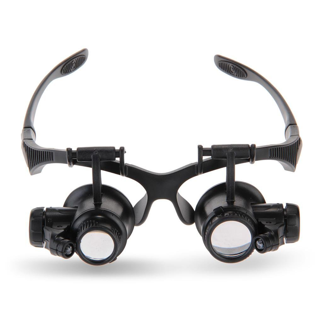 LED 10x 15x 20x 25x Eye Magnifying Glasses Magnifying Loupe Magnifier For Jeweler Watchmaker Black
