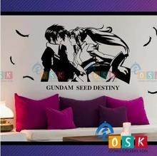 Japanese Cartoon Fans SEED DEATINY GUNDAM Vinyl Wall Stickers Decal Decor Home Decorative Decoration